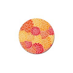 Vintage Floral Flower Red Orange Yellow Golf Ball Marker (10 Pack) by Jojostore