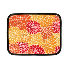 Vintage Floral Flower Red Orange Yellow Netbook Case (small)  by Jojostore