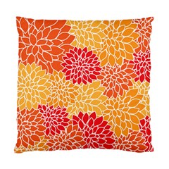 Vintage Floral Flower Red Orange Yellow Standard Cushion Case (two Sides) by Jojostore