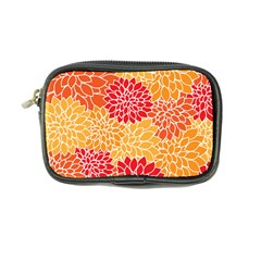 Vintage Floral Flower Red Orange Yellow Coin Purse by Jojostore
