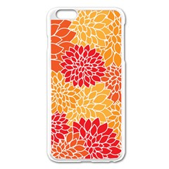 Vintage Floral Flower Red Orange Yellow Apple iPhone 6 Plus/6S Plus Enamel White Case by Jojostore