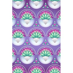 Background Floral Pattern Purple 5 5  X 8 5  Notebooks by Amaryn4rt