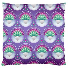 Background Floral Pattern Purple Standard Flano Cushion Case (two Sides) by Amaryn4rt