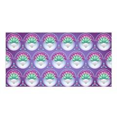 Background Floral Pattern Purple Satin Shawl by Amaryn4rt
