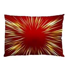 Color Gold Yellow Background Pillow Case by Amaryn4rt