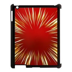 Color Gold Yellow Background Apple Ipad 3/4 Case (black) by Amaryn4rt