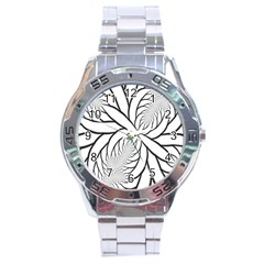 Fractal Symmetry Pattern Network Stainless Steel Analogue Watch by Amaryn4rt