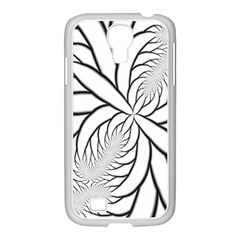 Fractal Symmetry Pattern Network Samsung Galaxy S4 I9500/ I9505 Case (white)