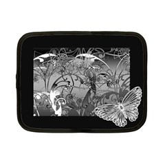 Kringel Circle Flowers Butterfly Netbook Case (small)