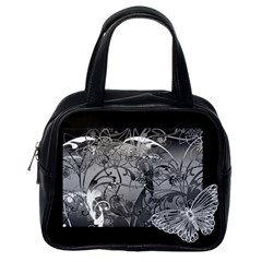 Kringel Circle Flowers Butterfly Classic Handbags (one Side)