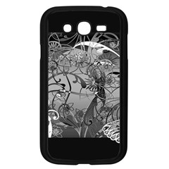 Kringel Circle Flowers Butterfly Samsung Galaxy Grand Duos I9082 Case (black) by Amaryn4rt