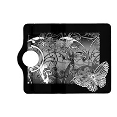 Kringel Circle Flowers Butterfly Kindle Fire Hd (2013) Flip 360 Case by Amaryn4rt