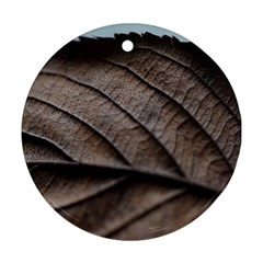 Leaf Veins Nerves Macro Closeup Ornament (round)  by Amaryn4rt