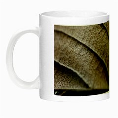 Leaf Veins Nerves Macro Closeup Night Luminous Mugs by Amaryn4rt