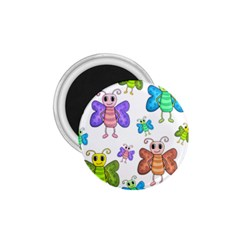 Colorful, Cartoon Style Butterflies 1 75  Magnets by Valentinaart