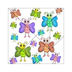 Colorful, Cartoon Style Butterflies Acrylic Tangram Puzzle (6  X 6 ) by Valentinaart