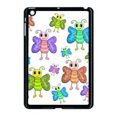 Colorful, Cartoon Style Butterflies Apple Ipad Mini Case (black) by Valentinaart