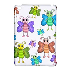 Colorful, Cartoon Style Butterflies Apple Ipad Mini Hardshell Case (compatible With Smart Cover) by Valentinaart