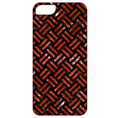 Woven2 Black Marble & Red Marble Apple Iphone 5 Classic Hardshell Case