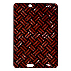 Woven2 Black Marble & Red Marble Amazon Kindle Fire Hd (2013) Hardshell Case by trendistuff
