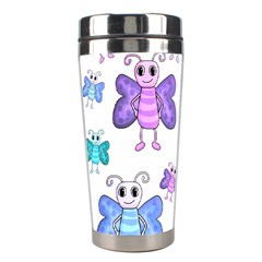 Cute Butterflies Pattern Stainless Steel Travel Tumblers