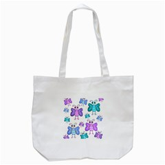 Cute Butterflies Pattern Tote Bag (white) by Valentinaart