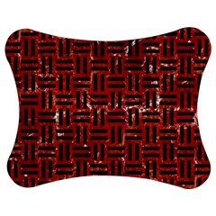 Woven1 Black Marble & Red Marble (r) Jigsaw Puzzle Photo Stand (bow) by trendistuff