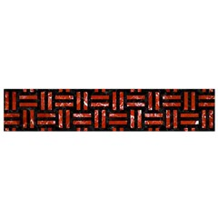 Woven1 Black Marble & Red Marble Flano Scarf (small) by trendistuff