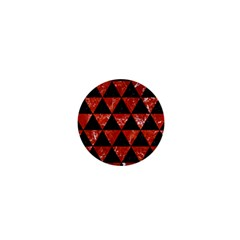 Triangle3 Black Marble & Red Marble 1  Mini Magnet by trendistuff