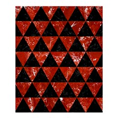 Triangle3 Black Marble & Red Marble Shower Curtain 60  X 72  (medium)