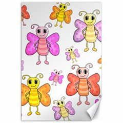Cute Butterflies Pattern Canvas 20  X 30   by Valentinaart