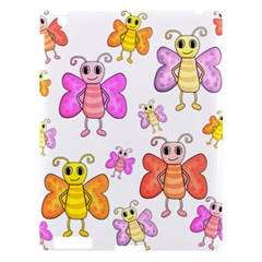 Cute Butterflies Pattern Apple Ipad 3/4 Hardshell Case by Valentinaart