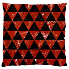 Triangle3 Black Marble & Red Marble Standard Flano Cushion Case (two Sides) by trendistuff