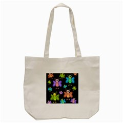 Cartoon Style Butterflies Tote Bag (cream) by Valentinaart