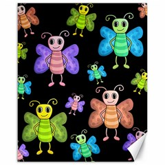 Cartoon Style Butterflies Canvas 16  X 20   by Valentinaart