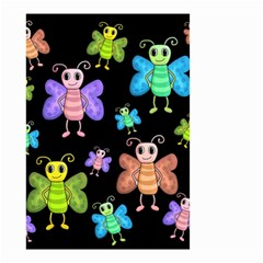 Cartoon Style Butterflies Small Garden Flag (two Sides) by Valentinaart