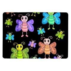 Cartoon Style Butterflies Samsung Galaxy Tab 10 1  P7500 Flip Case by Valentinaart
