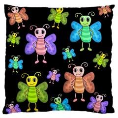 Cartoon Style Butterflies Standard Flano Cushion Case (one Side) by Valentinaart