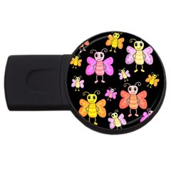 Cute Butterflies, Colorful Design Usb Flash Drive Round (2 Gb)  by Valentinaart