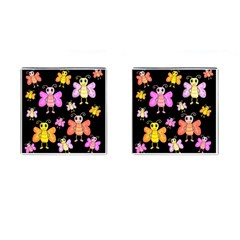 Cute Butterflies, Colorful Design Cufflinks (square) by Valentinaart
