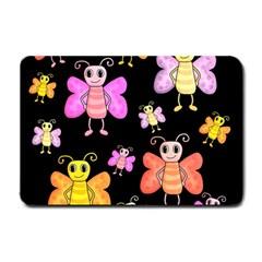 Cute Butterflies, Colorful Design Small Doormat  by Valentinaart