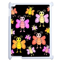 Cute Butterflies, Colorful Design Apple Ipad 2 Case (white) by Valentinaart
