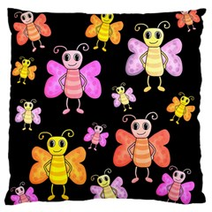 Cute Butterflies, Colorful Design Standard Flano Cushion Case (one Side) by Valentinaart