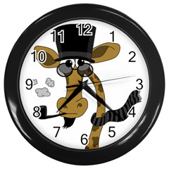 Mr  Elegance Wall Clocks (black) by Valentinaart
