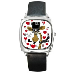 Mr  Right Square Metal Watch by Valentinaart