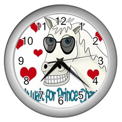 Don t Wait For Prince Sharming Wall Clocks (silver)  by Valentinaart