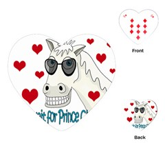 Don t Wait For Prince Sharming Playing Cards (heart)  by Valentinaart