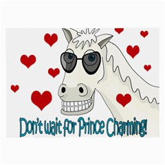 Don t Wait For Prince Sharming Large Glasses Cloth by Valentinaart