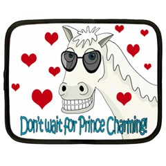 Don t Wait For Prince Sharming Netbook Case (xl)  by Valentinaart