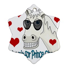 Don t Wait For Prince Sharming Ornament (snowflake)  by Valentinaart